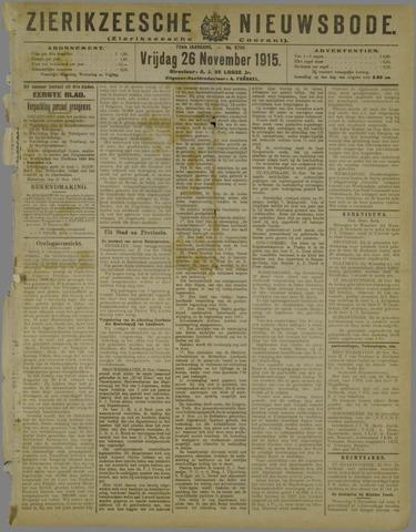 Zierikzeesche Nieuwsbode 1915-11-26