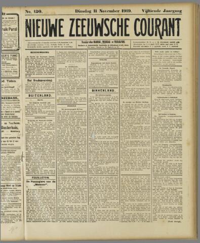 Nieuwe Zeeuwsche Courant 1919-11-11
