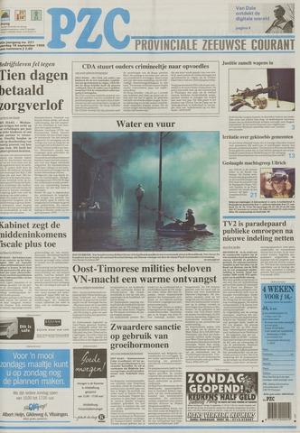 Provinciale Zeeuwse Courant 1999-09-18