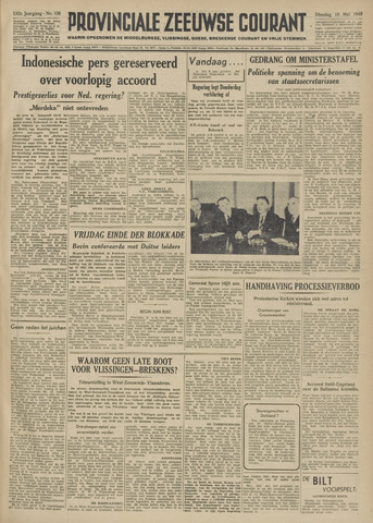 Provinciale Zeeuwse Courant 1949-05-10