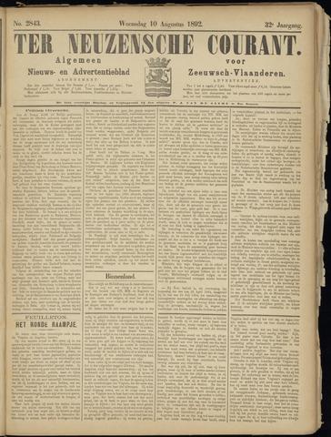 Ter Neuzensche Courant. Algemeen Nieuws- en Advertentieblad voor Zeeuwsch-Vlaanderen / Neuzensche Courant ... (idem) / (Algemeen) nieuws en advertentieblad voor Zeeuwsch-Vlaanderen 1892-08-10