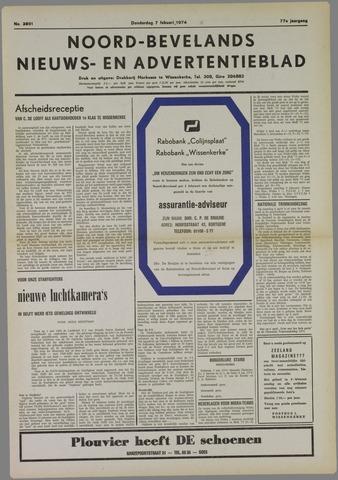 Noord-Bevelands Nieuws- en advertentieblad 1974-02-07