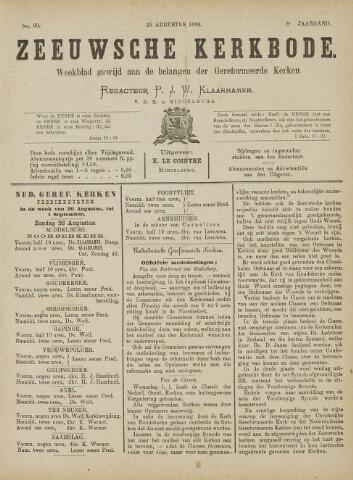 Zeeuwsche kerkbode, weekblad gewijd aan de belangen der gereformeerde kerken/ Zeeuwsch kerkblad 1888-08-25
