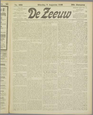 De Zeeuw. Christelijk-historisch nieuwsblad voor Zeeland 1916-08-08