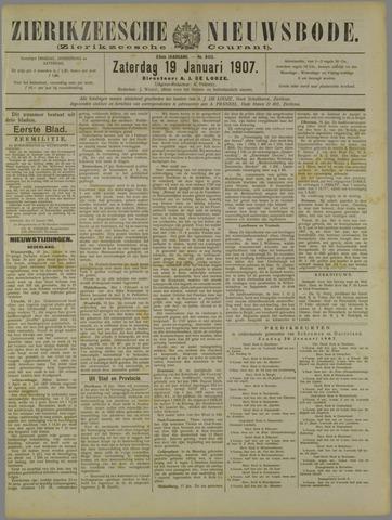 Zierikzeesche Nieuwsbode 1907-01-19