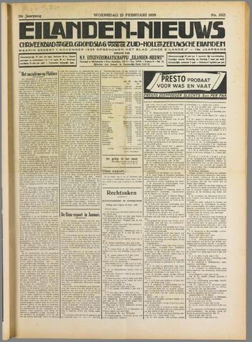 Eilanden-nieuws. Christelijk streekblad op gereformeerde grondslag 1939-02-15