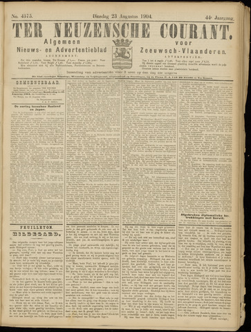Ter Neuzensche Courant. Algemeen Nieuws- en Advertentieblad voor Zeeuwsch-Vlaanderen / Neuzensche Courant ... (idem) / (Algemeen) nieuws en advertentieblad voor Zeeuwsch-Vlaanderen 1904-08-23
