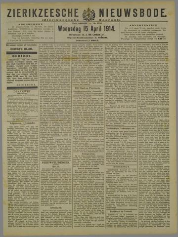 Zierikzeesche Nieuwsbode 1914-04-15