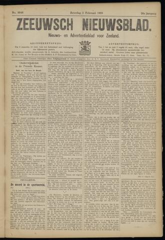 Ter Neuzensch Volksblad. Vrijzinnig nieuws- en advertentieblad voor Zeeuwsch- Vlaanderen / Zeeuwsch Nieuwsblad. Nieuws- en advertentieblad voor Zeeland 1919-02-01