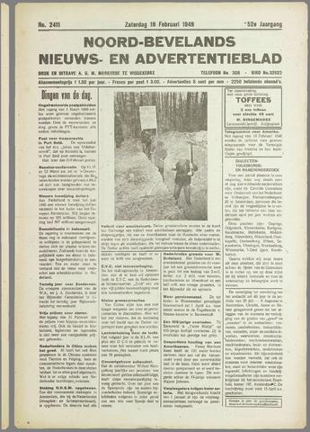 Noord-Bevelands Nieuws- en advertentieblad 1949-02-19