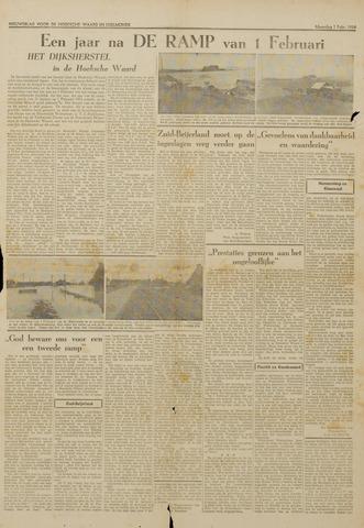 Watersnood documentatie 1953 - kranten 1954-02-01