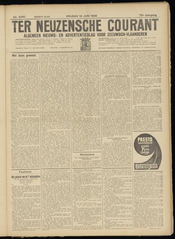 Ter Neuzensche Courant. Algemeen Nieuws- en Advertentieblad voor Zeeuwsch-Vlaanderen / Neuzensche Courant ... (idem) / (Algemeen) nieuws en advertentieblad voor Zeeuwsch-Vlaanderen 1935-06-14