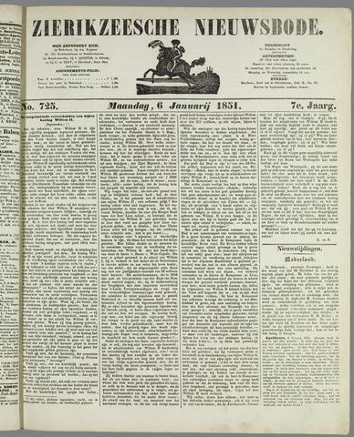 Zierikzeesche Nieuwsbode 1851-01-06
