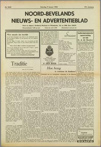 Noord-Bevelands Nieuws- en advertentieblad 1954-01-09