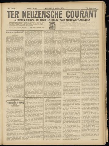 Ter Neuzensche Courant. Algemeen Nieuws- en Advertentieblad voor Zeeuwsch-Vlaanderen / Neuzensche Courant ... (idem) / (Algemeen) nieuws en advertentieblad voor Zeeuwsch-Vlaanderen 1934-04-06