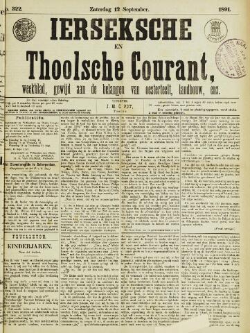 Ierseksche en Thoolsche Courant 1891-09-12