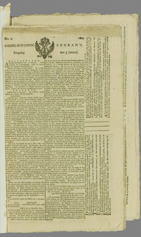 Middelburgsche Courant 1809