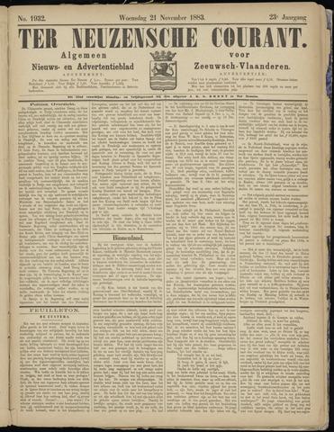 Ter Neuzensche Courant. Algemeen Nieuws- en Advertentieblad voor Zeeuwsch-Vlaanderen / Neuzensche Courant ... (idem) / (Algemeen) nieuws en advertentieblad voor Zeeuwsch-Vlaanderen 1883-11-21