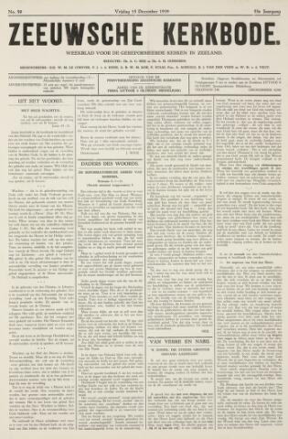 Zeeuwsche kerkbode, weekblad gewijd aan de belangen der gereformeerde kerken/ Zeeuwsch kerkblad 1939-12-15