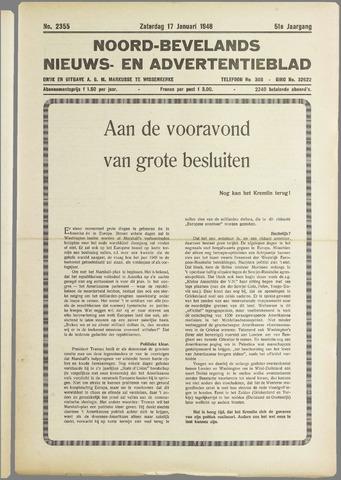 Noord-Bevelands Nieuws- en advertentieblad 1948-01-17