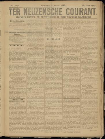 Ter Neuzensche Courant. Algemeen Nieuws- en Advertentieblad voor Zeeuwsch-Vlaanderen / Neuzensche Courant ... (idem) / (Algemeen) nieuws en advertentieblad voor Zeeuwsch-Vlaanderen 1923-01-03