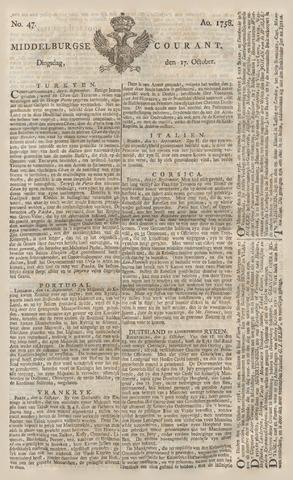 Middelburgsche Courant 1758-10-17