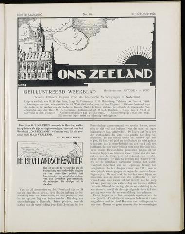 Ons Zeeland / Zeeuwsche editie 1926-10-30