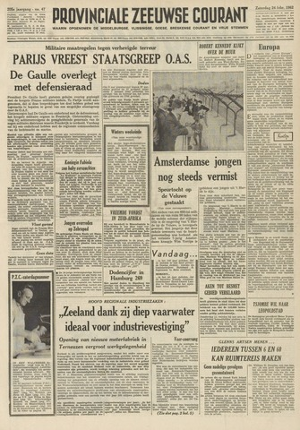 Provinciale Zeeuwse Courant 1962-02-24