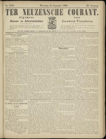 Ter Neuzensche Courant. Algemeen Nieuws- en Advertentieblad voor Zeeuwsch-Vlaanderen / Neuzensche Courant ... (idem) / (Algemeen) nieuws en advertentieblad voor Zeeuwsch-Vlaanderen 1889-09-25