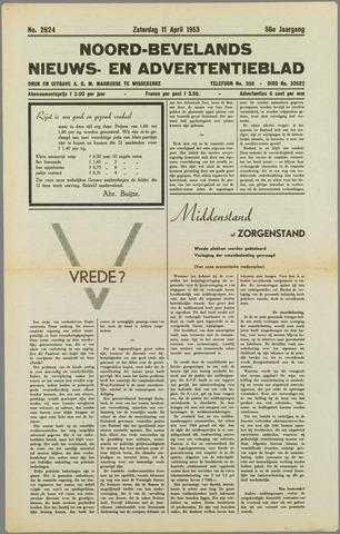 Noord-Bevelands Nieuws- en advertentieblad 1953-04-11