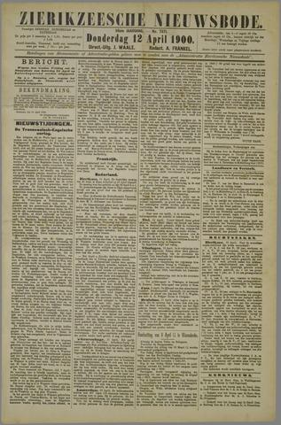 Zierikzeesche Nieuwsbode 1900-04-12