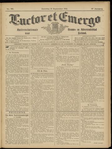 Luctor et Emergo. Antirevolutionair nieuws- en advertentieblad voor Zeeland / Zeeuwsch-Vlaanderen. Orgaan ter verspreiding van de christelijke beginselen in Zeeuwsch-Vlaanderen 1912-09-21