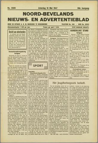 Noord-Bevelands Nieuws- en advertentieblad 1947-05-10