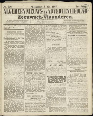 Ter Neuzensche Courant. Algemeen Nieuws- en Advertentieblad voor Zeeuwsch-Vlaanderen / Neuzensche Courant ... (idem) / (Algemeen) nieuws en advertentieblad voor Zeeuwsch-Vlaanderen 1867-05-08
