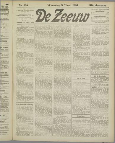 De Zeeuw. Christelijk-historisch nieuwsblad voor Zeeland 1916-03-08