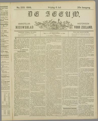 De Zeeuw. Christelijk-historisch nieuwsblad voor Zeeland 1906-07-06