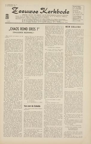 Zeeuwsche kerkbode, weekblad gewijd aan de belangen der gereformeerde kerken/ Zeeuwsch kerkblad 1966-11-18