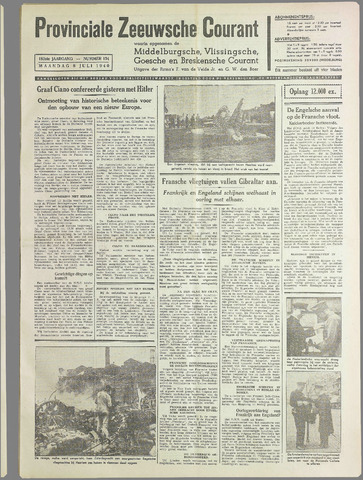 Provinciale Zeeuwse Courant 1940-07-08