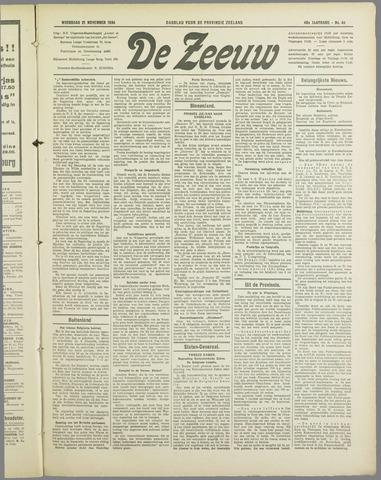 De Zeeuw. Christelijk-historisch nieuwsblad voor Zeeland 1934-11-21