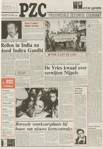 Provinciale Zeeuwse Courant 1984-11-01