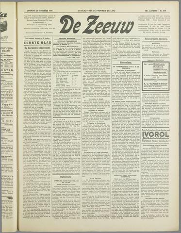 De Zeeuw. Christelijk-historisch nieuwsblad voor Zeeland 1934-08-25
