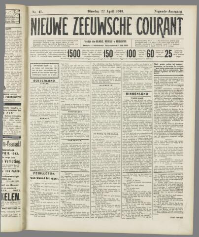 Nieuwe Zeeuwsche Courant 1913-04-22