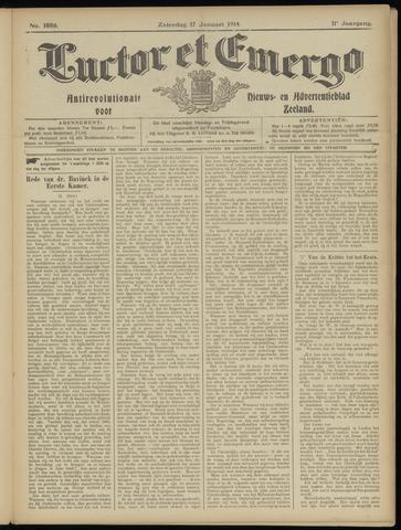 Luctor et Emergo. Antirevolutionair nieuws- en advertentieblad voor Zeeland / Zeeuwsch-Vlaanderen. Orgaan ter verspreiding van de christelijke beginselen in Zeeuwsch-Vlaanderen 1914-01-17