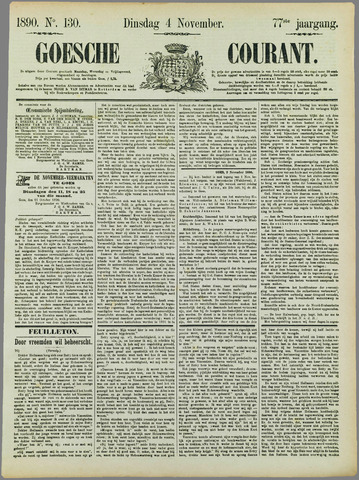 Goessche Courant 1890-11-04