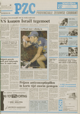 Provinciale Zeeuwse Courant 1991-07-25