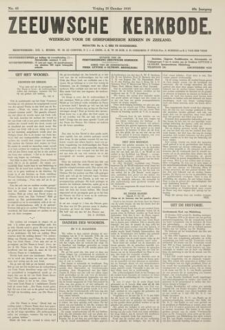 Zeeuwsche kerkbode, weekblad gewijd aan de belangen der gereformeerde kerken/ Zeeuwsch kerkblad 1935-10-25