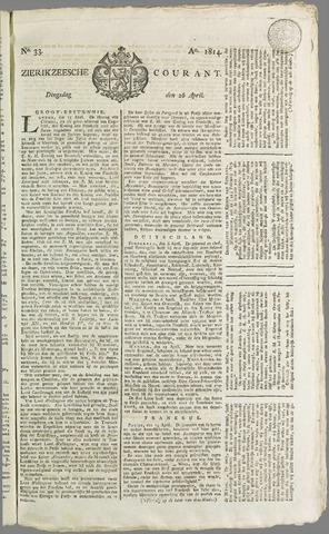 Zierikzeesche Courant 1814-04-26