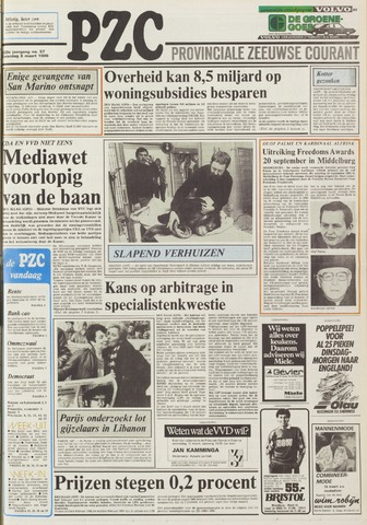 Provinciale Zeeuwse Courant 1986-03-08