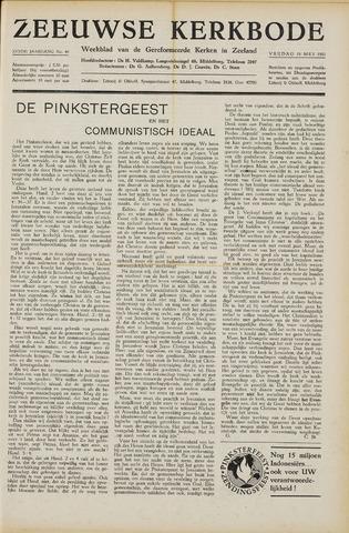 Zeeuwsche kerkbode, weekblad gewijd aan de belangen der gereformeerde kerken/ Zeeuwsch kerkblad 1951-05-18