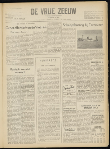 de Vrije Zeeuw 1953-12-28